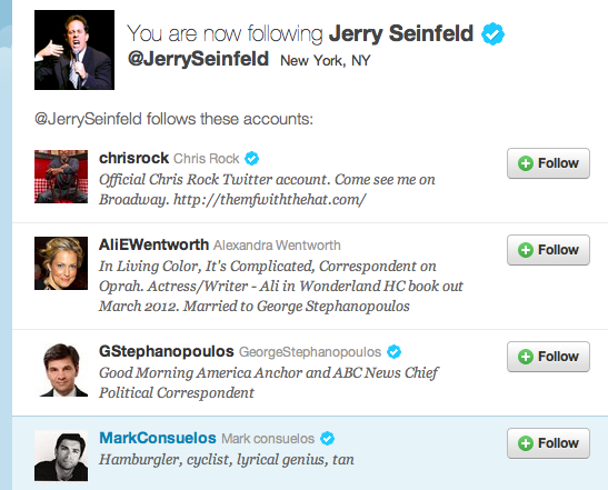 Seinfeldfollows